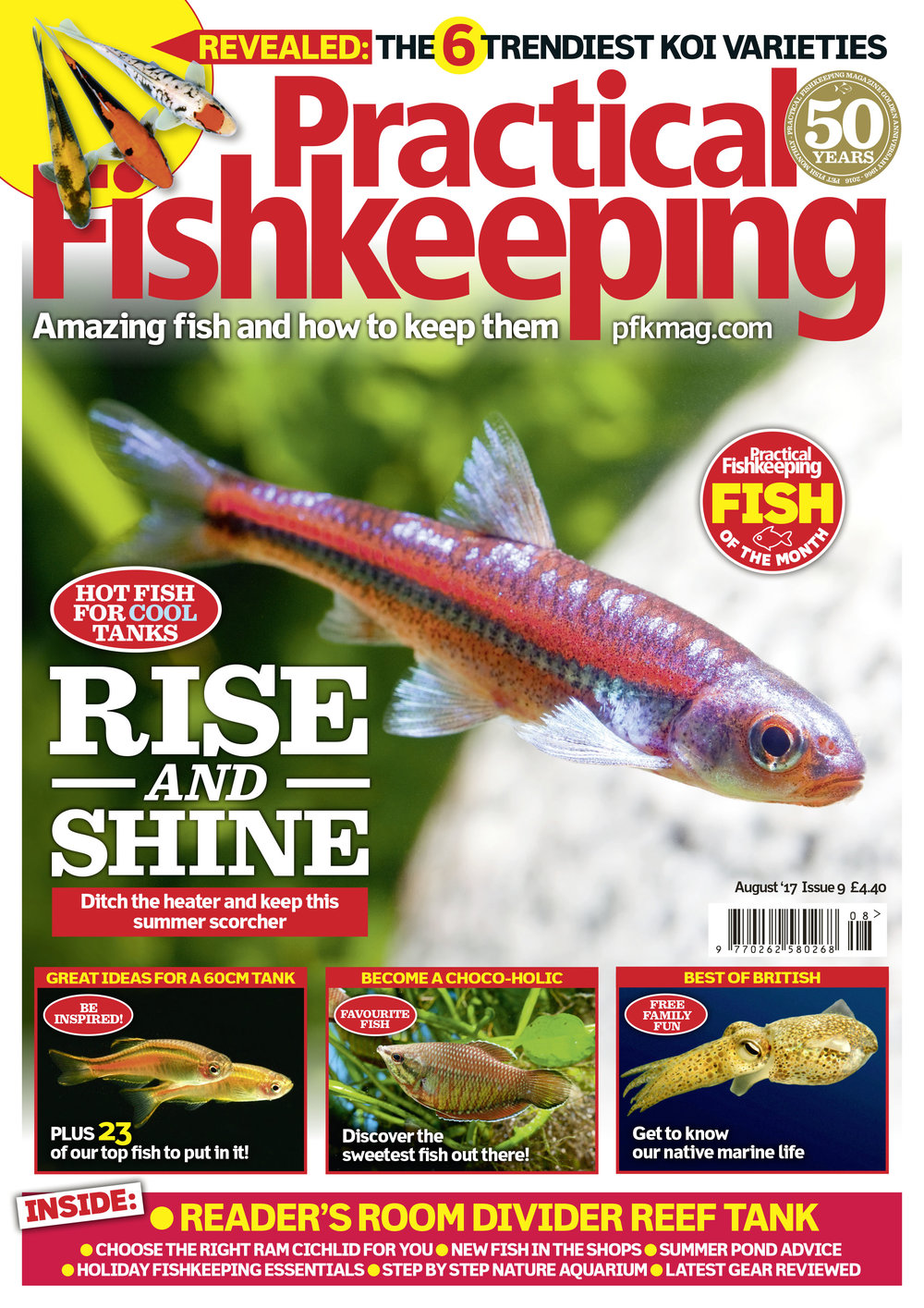 Welcome to the August 2017 issue of Practical Fishkeeping magazine