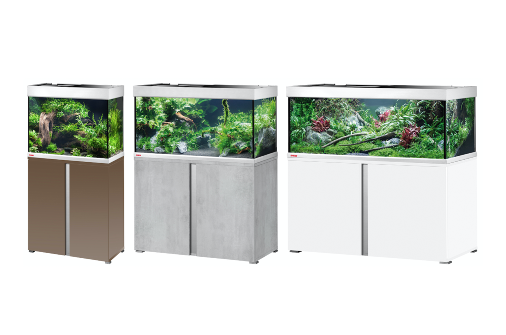 EHEIM Proxima classicLED aquariums and cabinets.