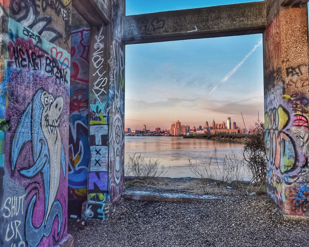 Truly urban sunrise in Philly