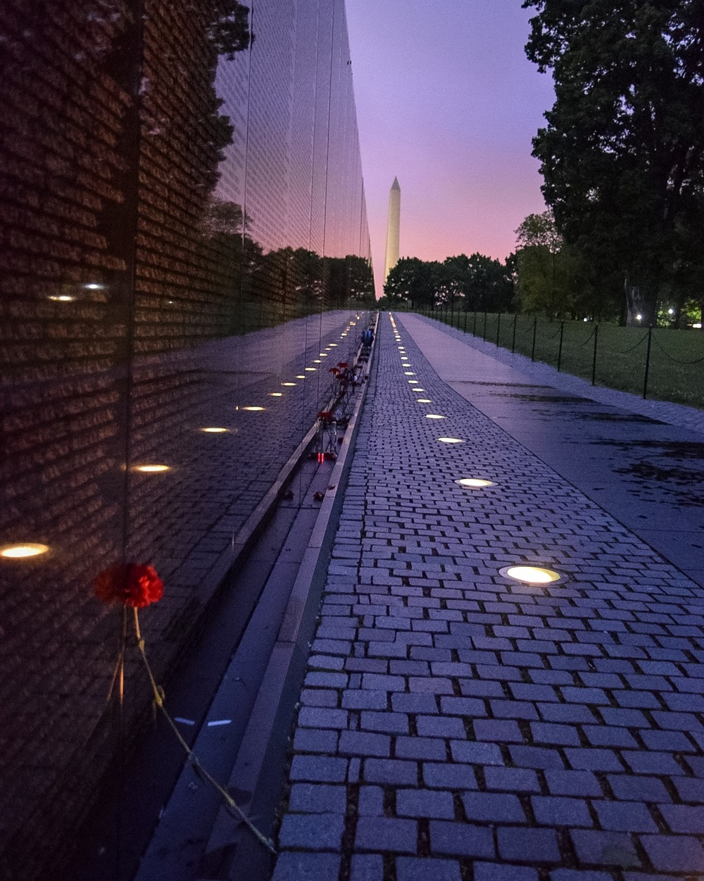The Vietnam Veterans Memorial contains the names of the more than 53,000 Americans killed during the Vietnam War, and includes from than 1,200 missing in action.