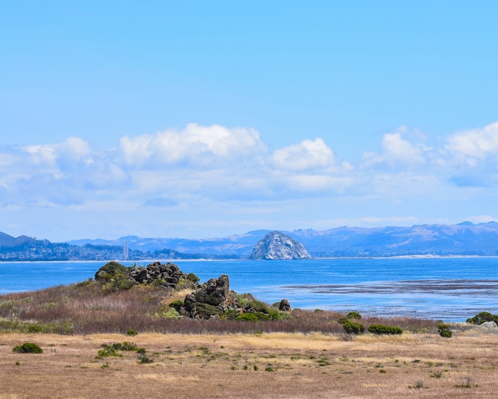Morro Bay - Morro Rock is a volcanic plug, one of nine along the coast.