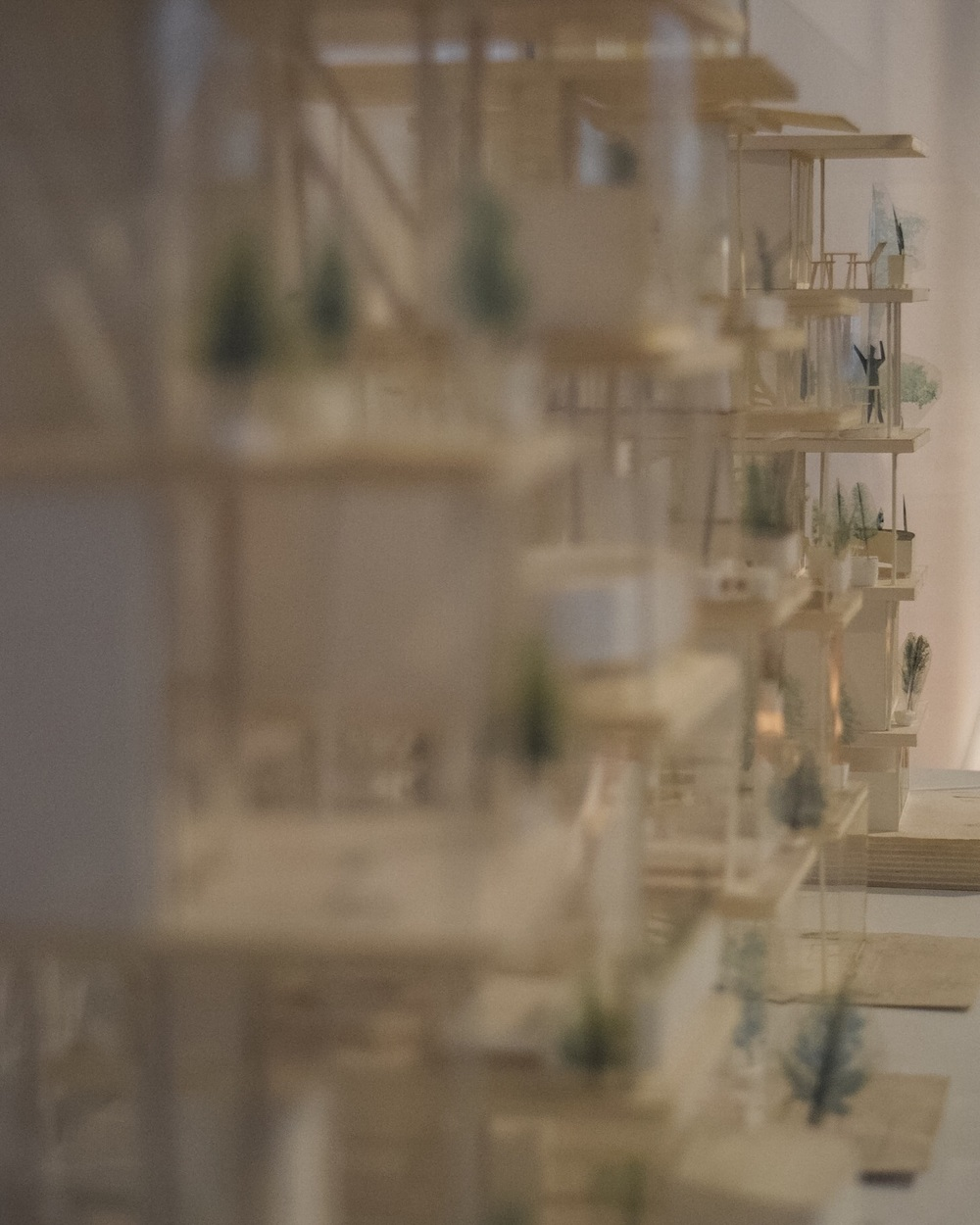 "Architectural models from ""A Japanese Constellation: Toyo Ito, SANAA, and Beyond"""