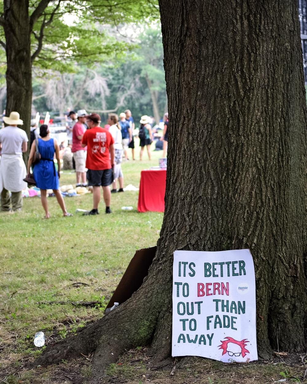 Protest, FDR Park