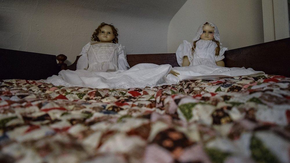 Antique dolls in the attic