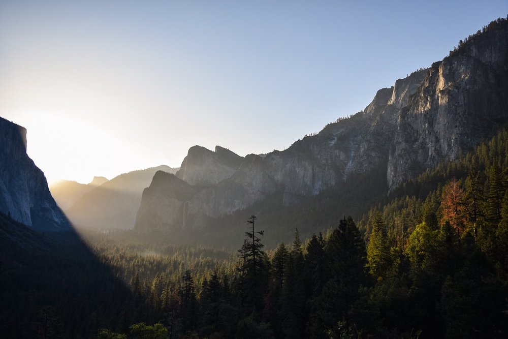 Morning at Tunnel View.