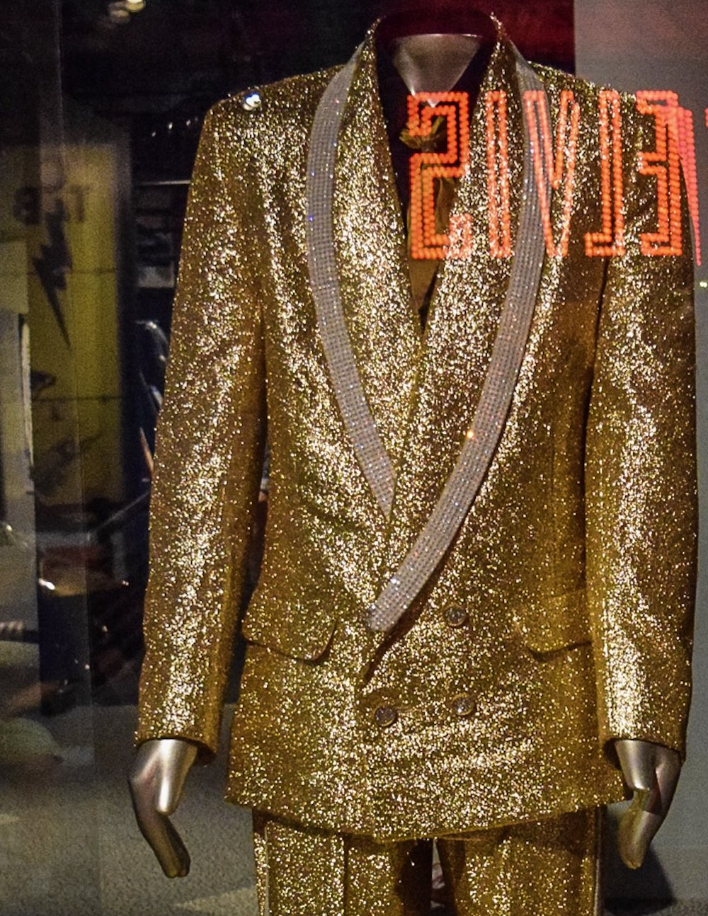Elvis's suit from the cover of  50,000,000 Elvis Fans Can't Be Wrong