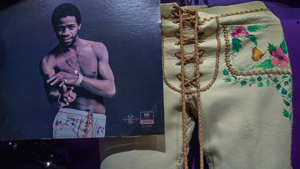 Leather pants immortalized on the cover of  Al Green's Greatest Hits .