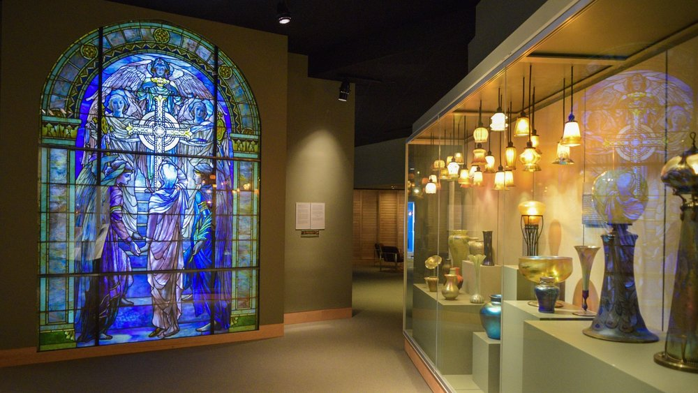 This full Tiffany window was rescued from a property in upstate New York.