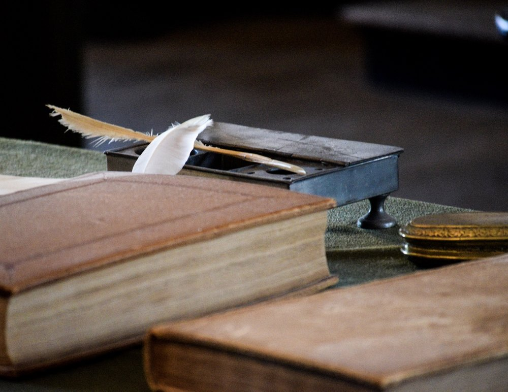 18th century books and quills