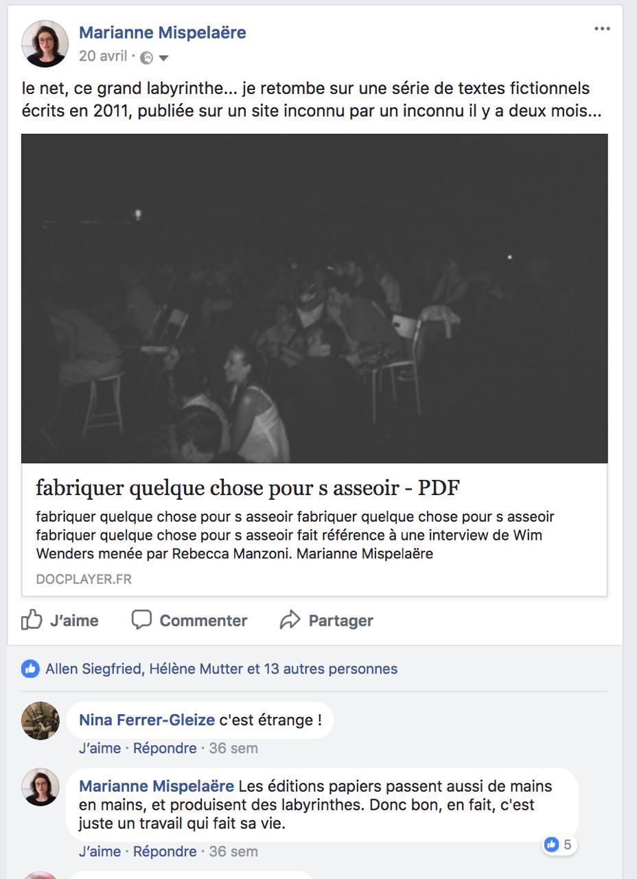 Capture d'écran (http://www.facebook.com), 2017