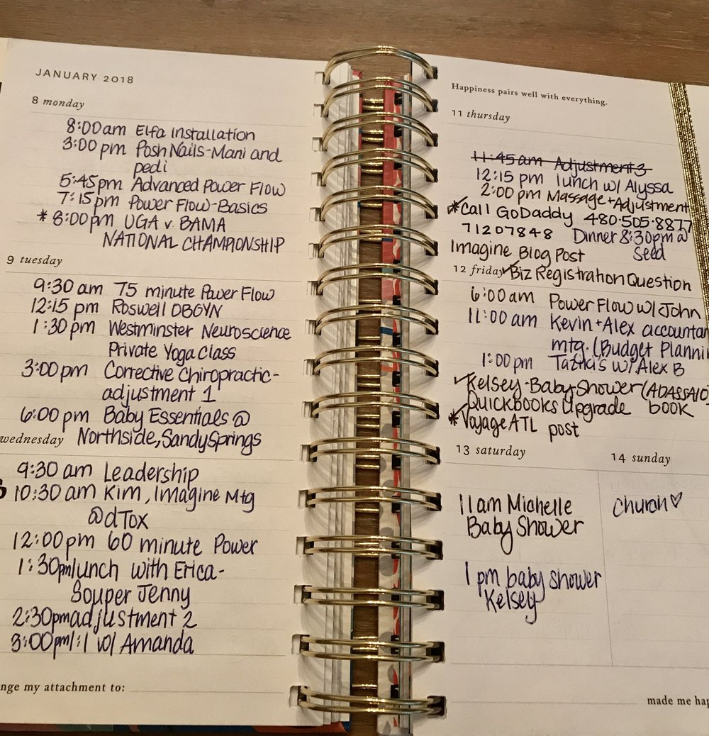 My weekly planner from  Coton Colors