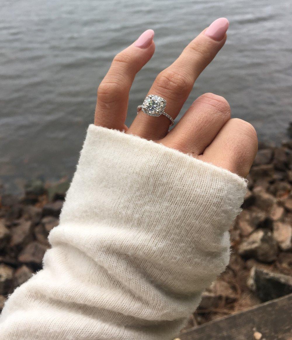 My beautiful engagement Ascot Diamonds engagement ring