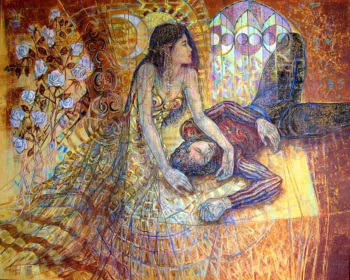 Roméo et Juliette 162 x 130 cm Paris ; 63 x 50 inches
