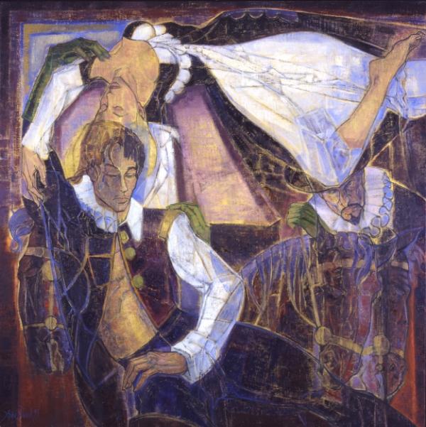 Ruy Blas et la Reine d'Espagne 150 x 150 cm ; 58,50 x 58,50 inches