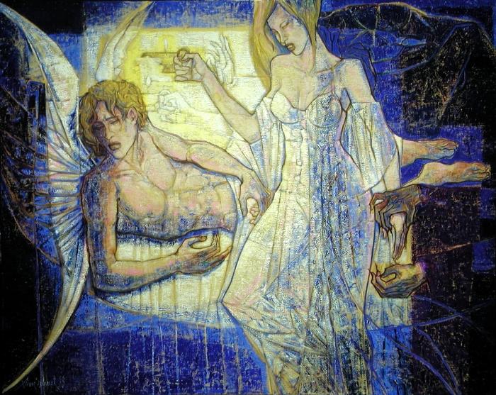 Amour et Psyché162x130cm Paris ; 63 x 50 inches
