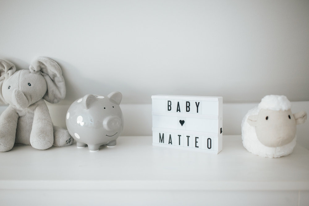 neutral grey and white nursery details - Newmarket In-Home Photos
