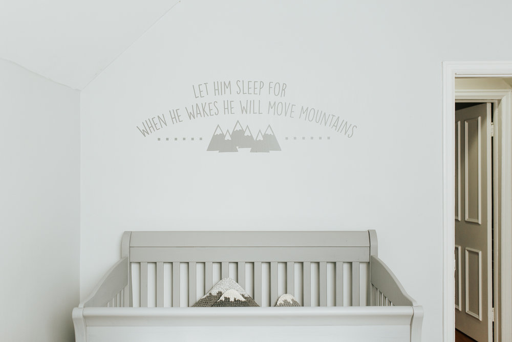 light blue nursery details - Newmarket In-Home Photos