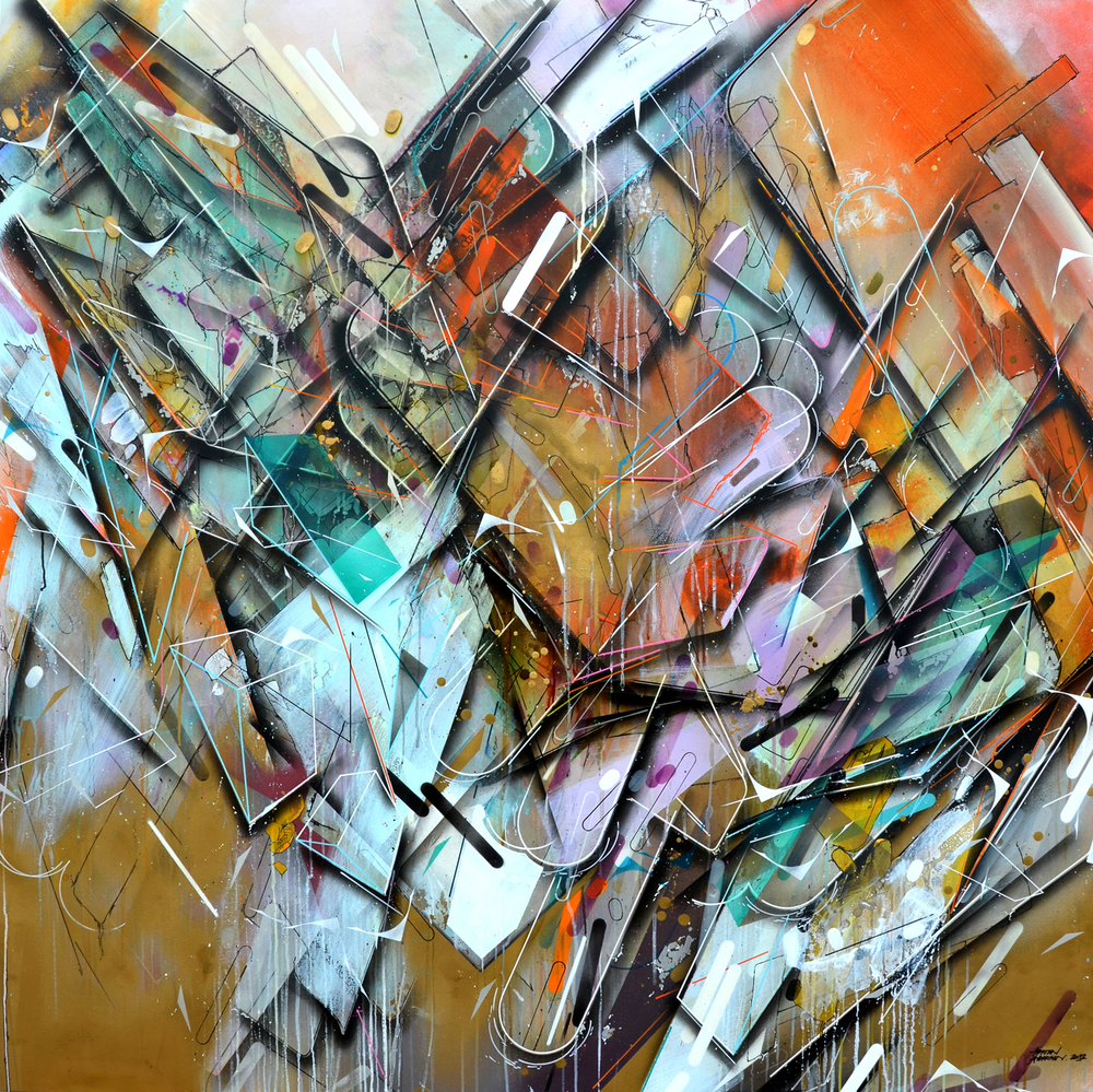Jets of Pure 160x160cm 2012