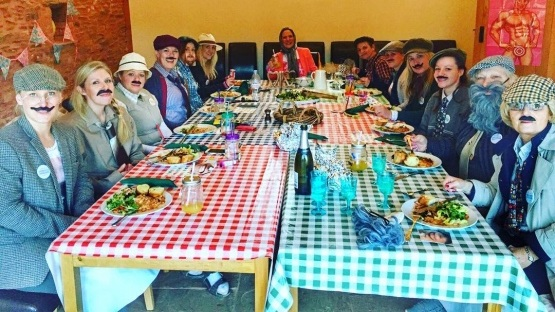 Great Country Folk themed Hen Party tonight! #somersetsgreatescape #HenParty #SecretValley #OwlBarn #greatoutdoorslife #glamping.jpg