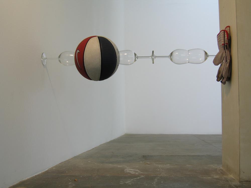 21-untitled(basketball, wineglasses, workgloves)2005.jpeg