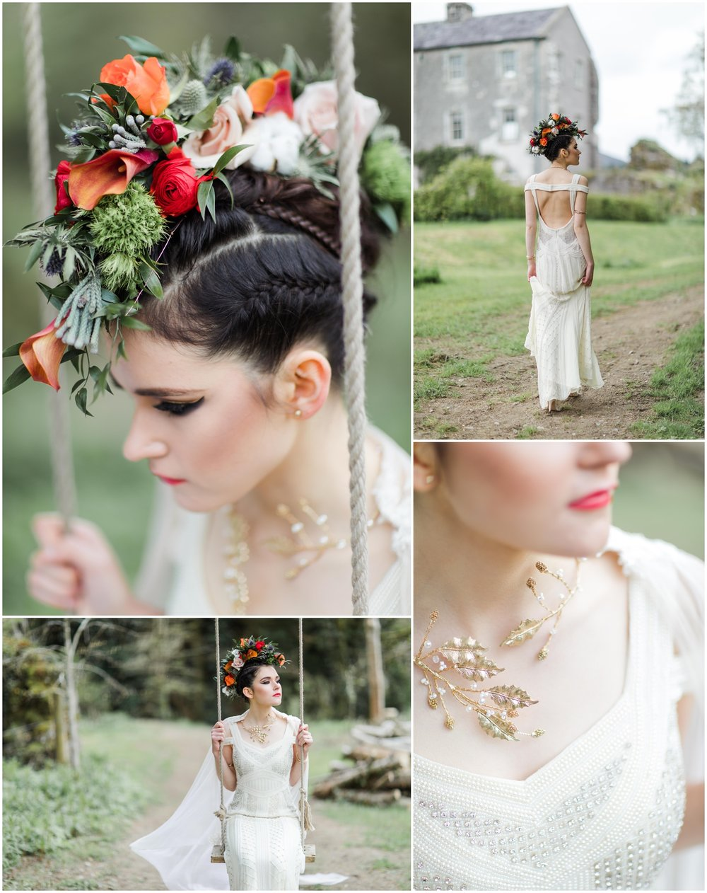 Image Credits    Photography:   Katya Koliban Photography   |   Styling:   Blaithin O'Reilly Murphy at TheWeddingExpert.ie   |   Dress:   Que Va by Caoimhe Keane   |   Make Up:   efcreativestudios.com   |  Hair:   bridalhairandmakeup.ie   |   Jewellery:   veronicaroden.ie      |    Flowers:   weddingflowersbyjosephine.ie   |    Accessories:  Jenny Vanders  |   Location:   Aghavannagh Barracks      |    Model:   Julija
