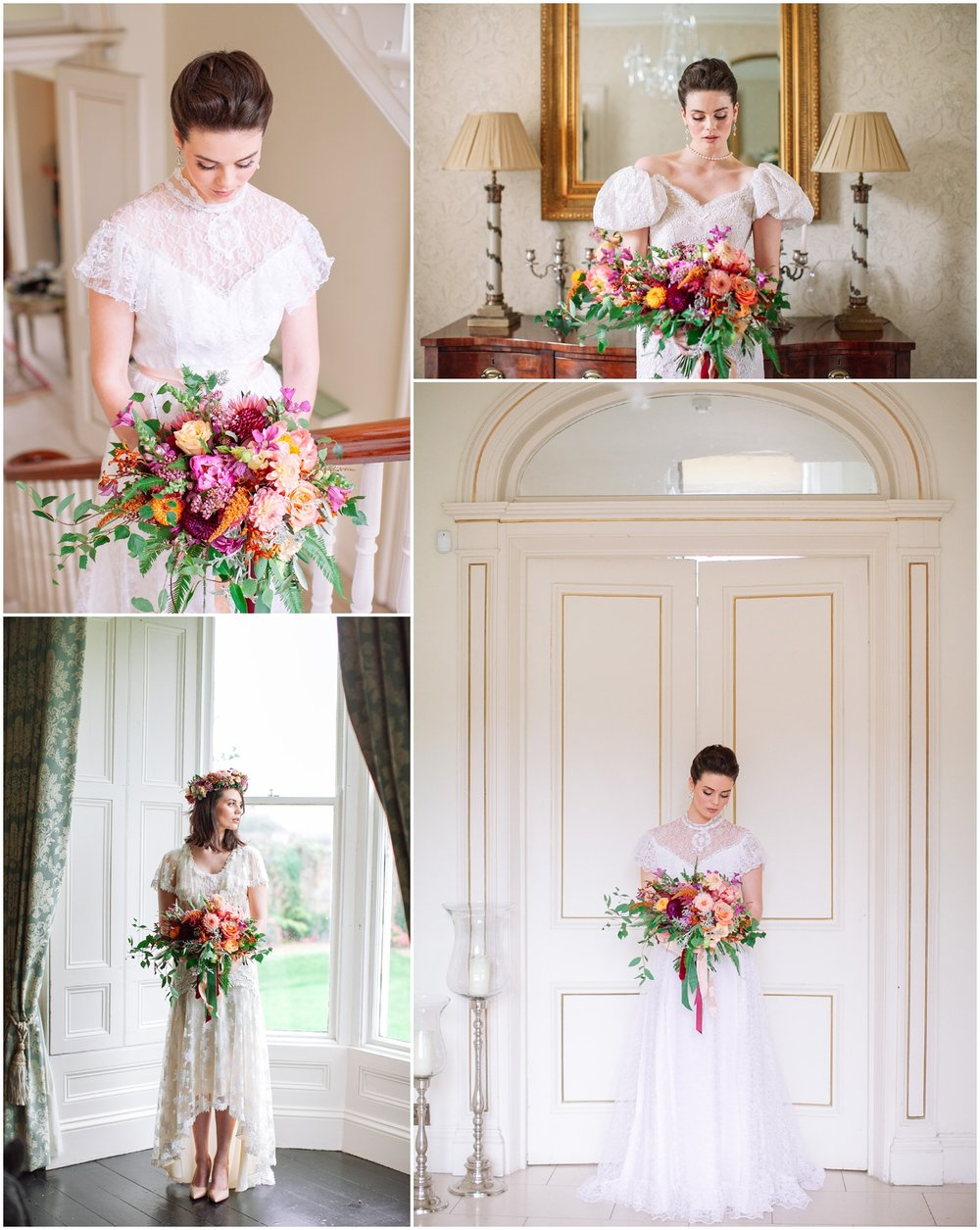 Styling by   The Wedding Expert   | Flowers by   Frog Prince Design   | Make Up by   Rebecca O'Sullivan   | Hair by   Claire Barry   | Dresses by   Dirty Fabulous   | Venue   Rosedale House   | Suits   Dorian Black