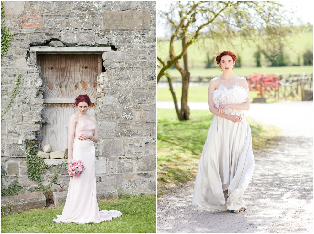 Creative Team: Photographer:  Katya Koliban Photography  Styling and decor:  Lorraine at Hand Made Weddings  Hair Stylist:  Lorraine Browne  Makeup Artist:  Hayley McGowan  Dresses:  Sarah Foy  Stationery:  As You Wish  Cakes:  The Cake Lab Bakery  Groomswear:  Richie Whelan's Menswear  Flowers:  Petite Fleurs  Venue:  The Millhouse  Mary-Kate Lanigan (Model):  1st Optio n James O'Callaghan (Model):  Grace Model Management