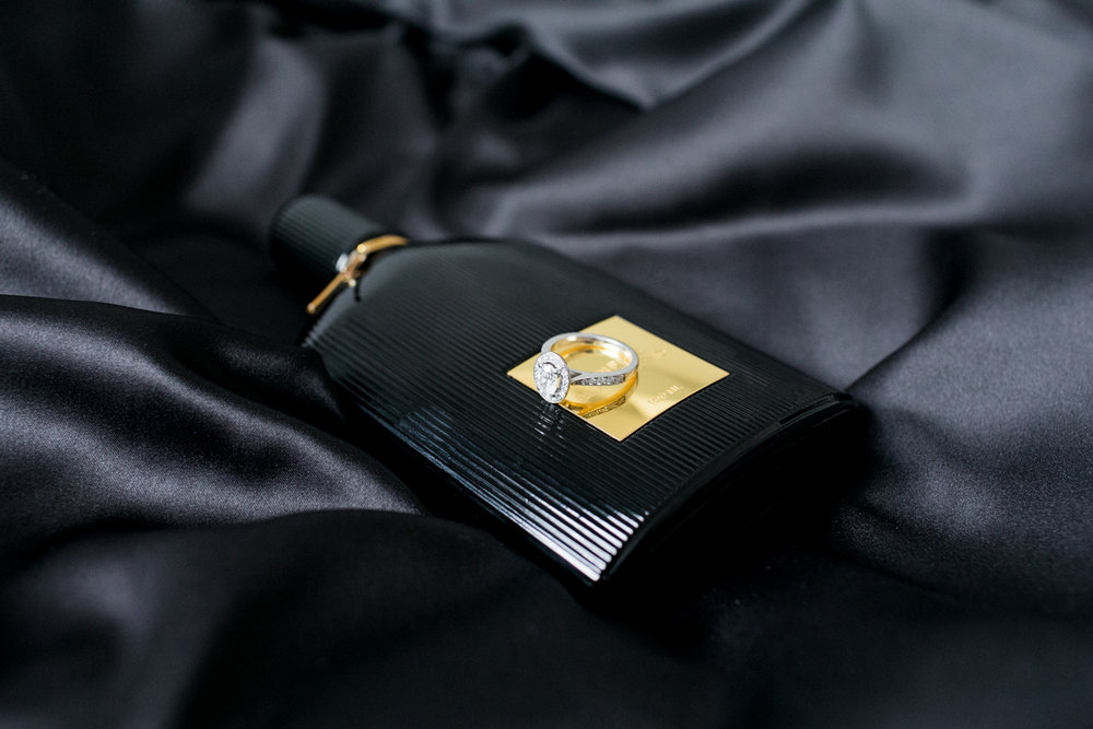tom ford perfume on black silk garment