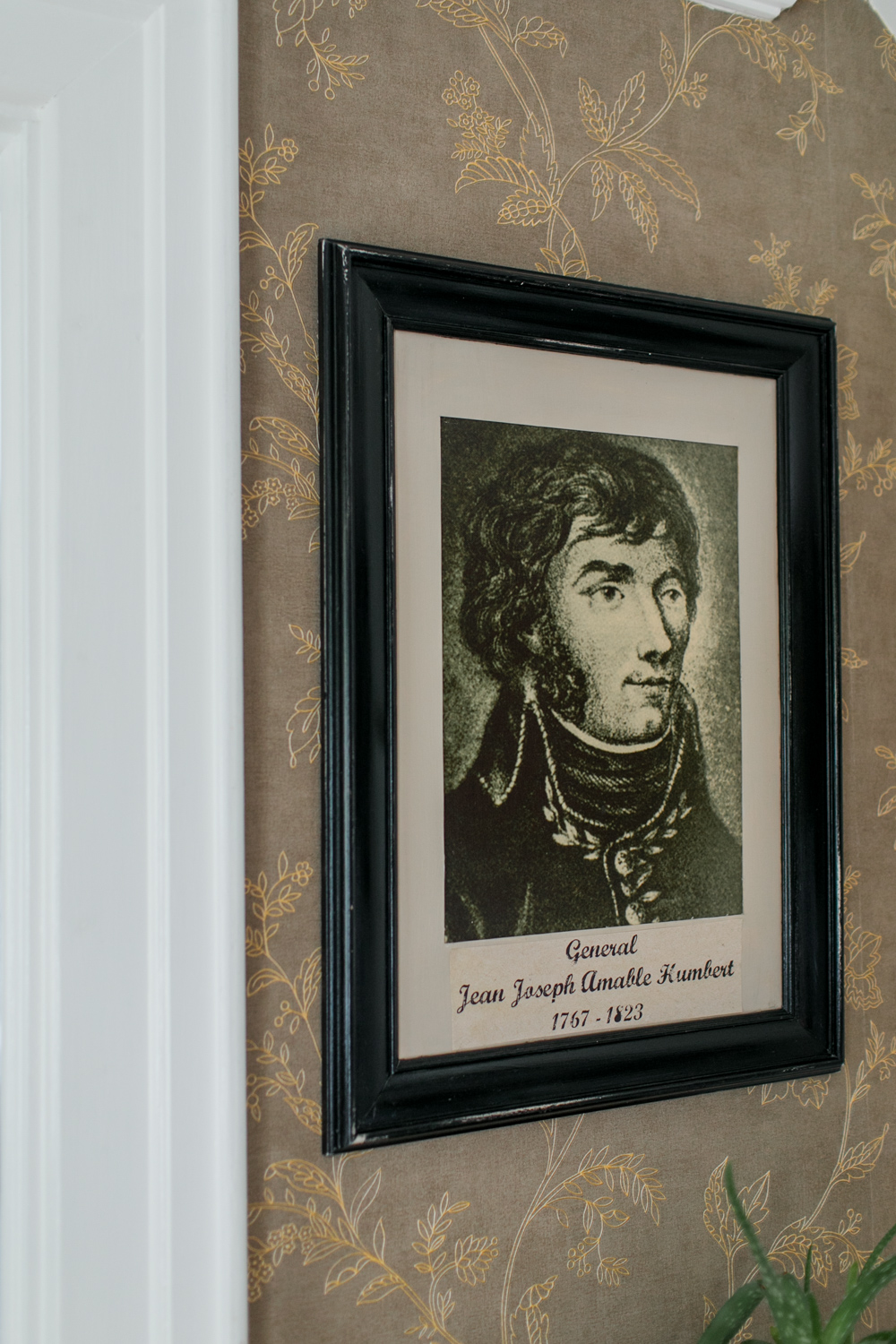 general jean joseph amable kumbert framed vintage depiction on the wall