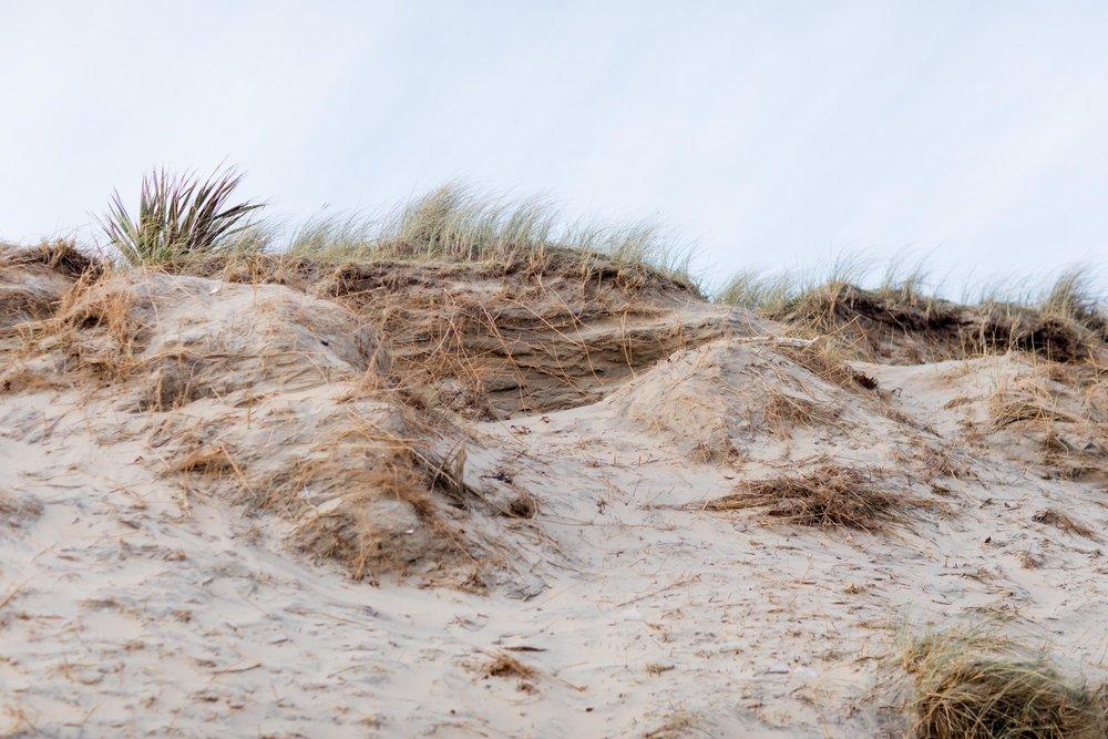 a sandy dune in wicklow brittas bay in ireland