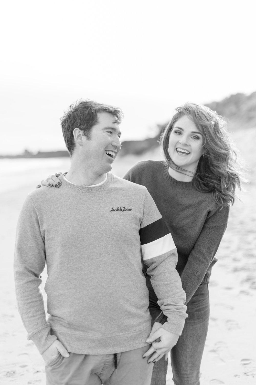 an engagement photoshoot on brittas bay a sandy beach in ireland
