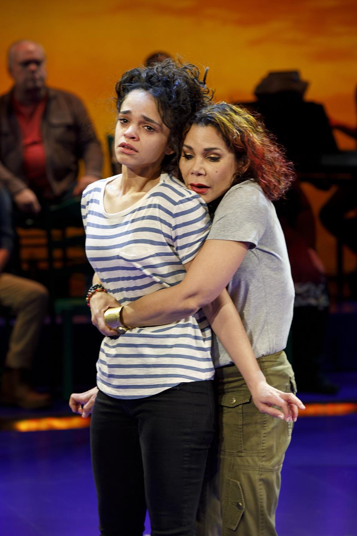 Gizel Jimenez and Daphne Rubin-Vega. Photo: Joan Marcus