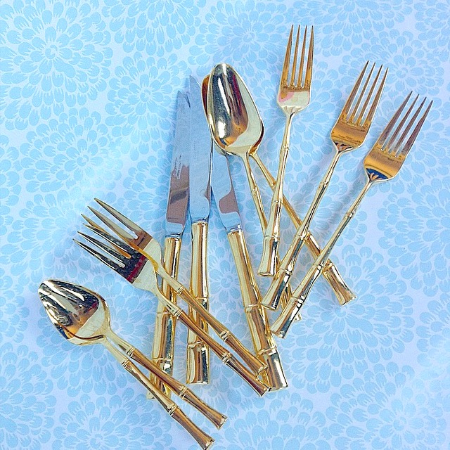 GOLD FLATWARE & CUTLERY