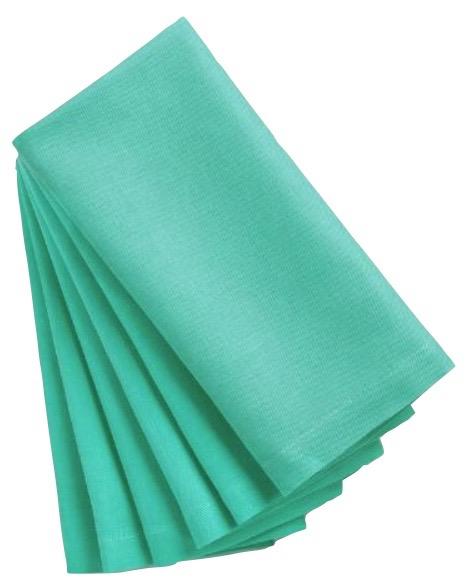 the vintage laundry aqua dinner napkins