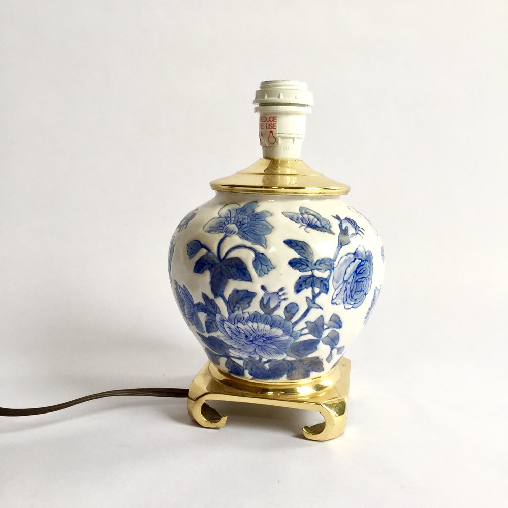 Petite Blue and White Chinoiserie Lamp