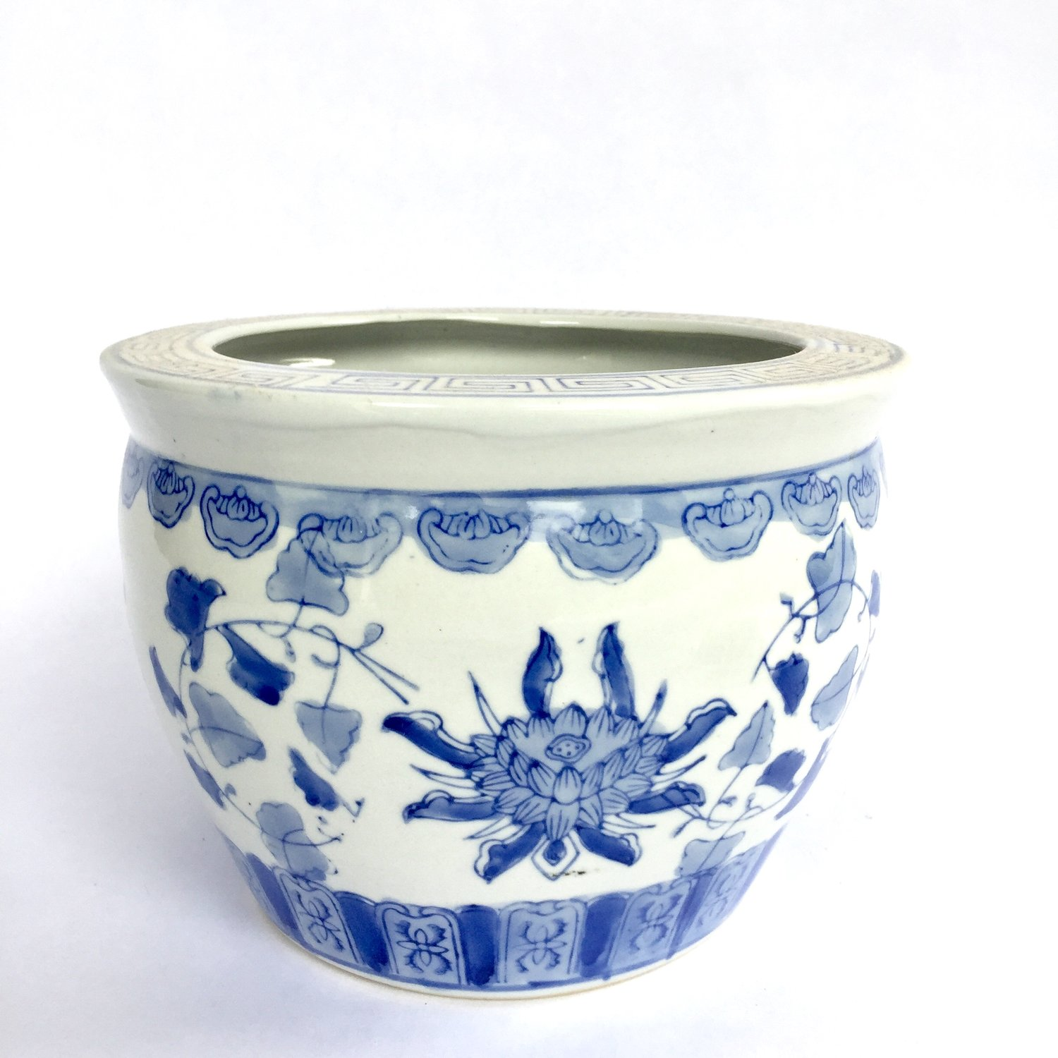 The Vintage Laundry Small Blue And White Chinoiserie Planter