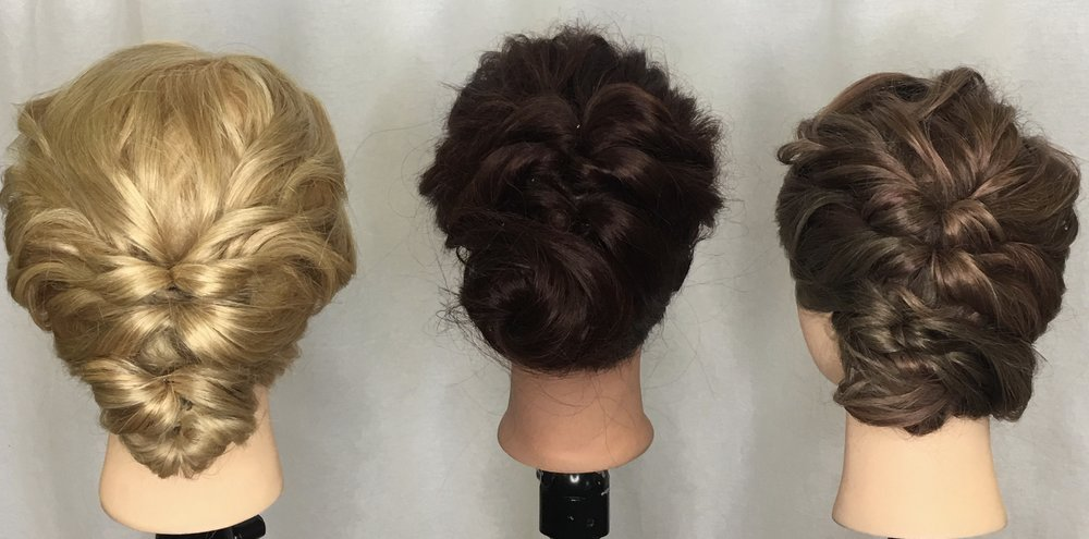 Different takes on the same style in one of our in salon classes by Schalan, Gabriella and Taylor