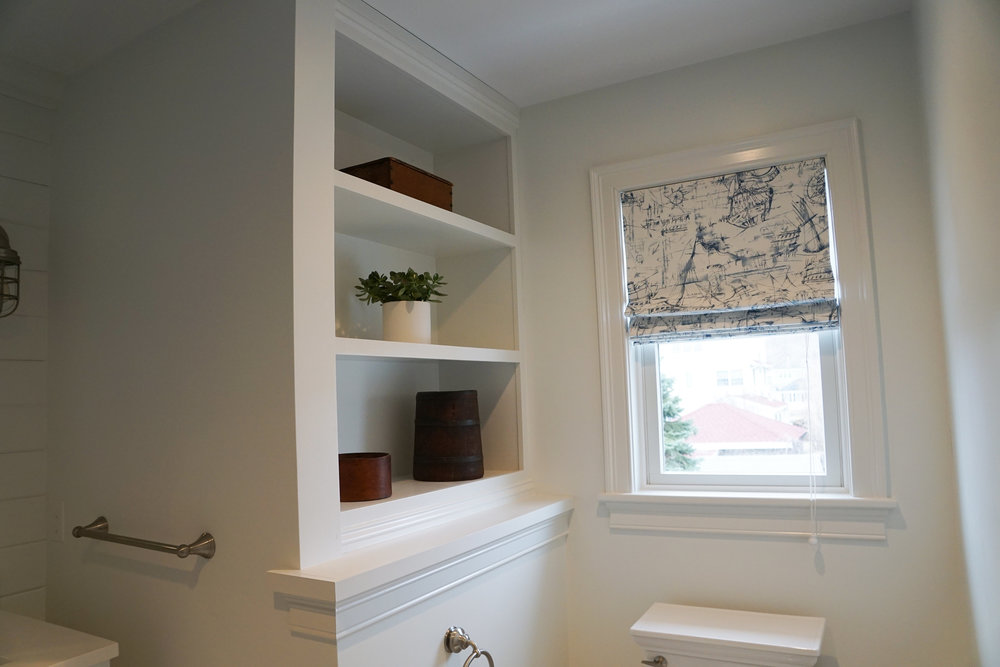 Built-in Shelf in Master Bath