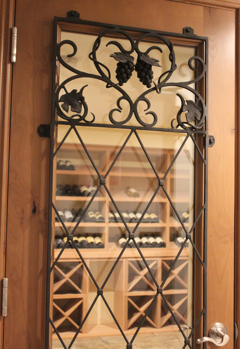 Wine cellar wrought iron door
