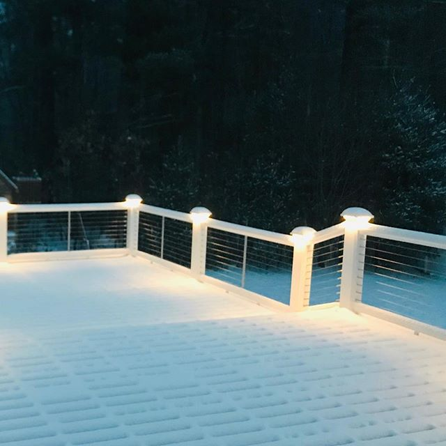 Let it snow ❄️❄️❄️ #tmsullivanconstruction #southshore #deck #stainlesssteelrailing #springiscoming