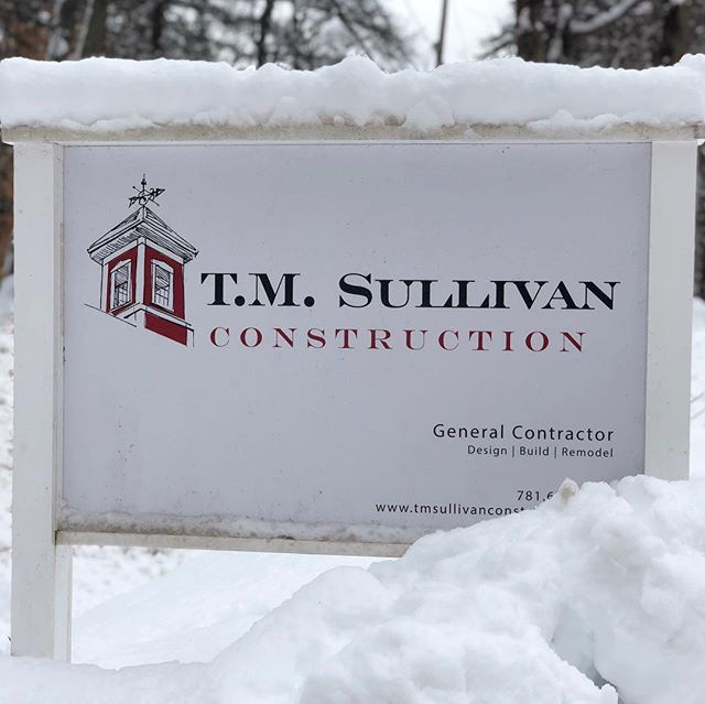 March is coming in like a lion! #tmsullivanconstruction #snowday #springiscoming