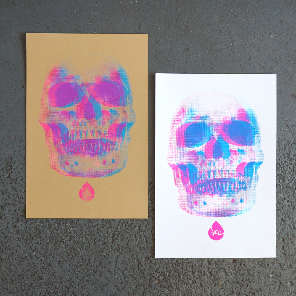 Skull Screenprints by DNA Galleries