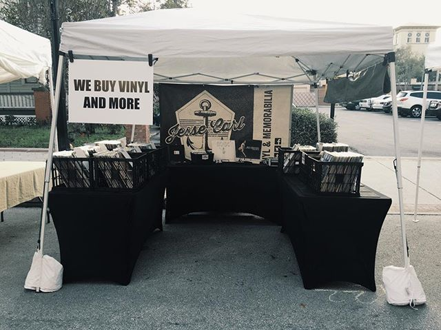 Here we are at our last Saturday at the downtown #lakeland farmers market. We are SO happy to have been a part of this incredible community, and #JesseCarl wouldn't be what it is without the support of our market neighbors and friends. Come see us one last time before we transition any time between 8AM and 2PM. We're on KENTUCKY AVE today. #vsco #vinyl #community #recordstore #LoveLkld