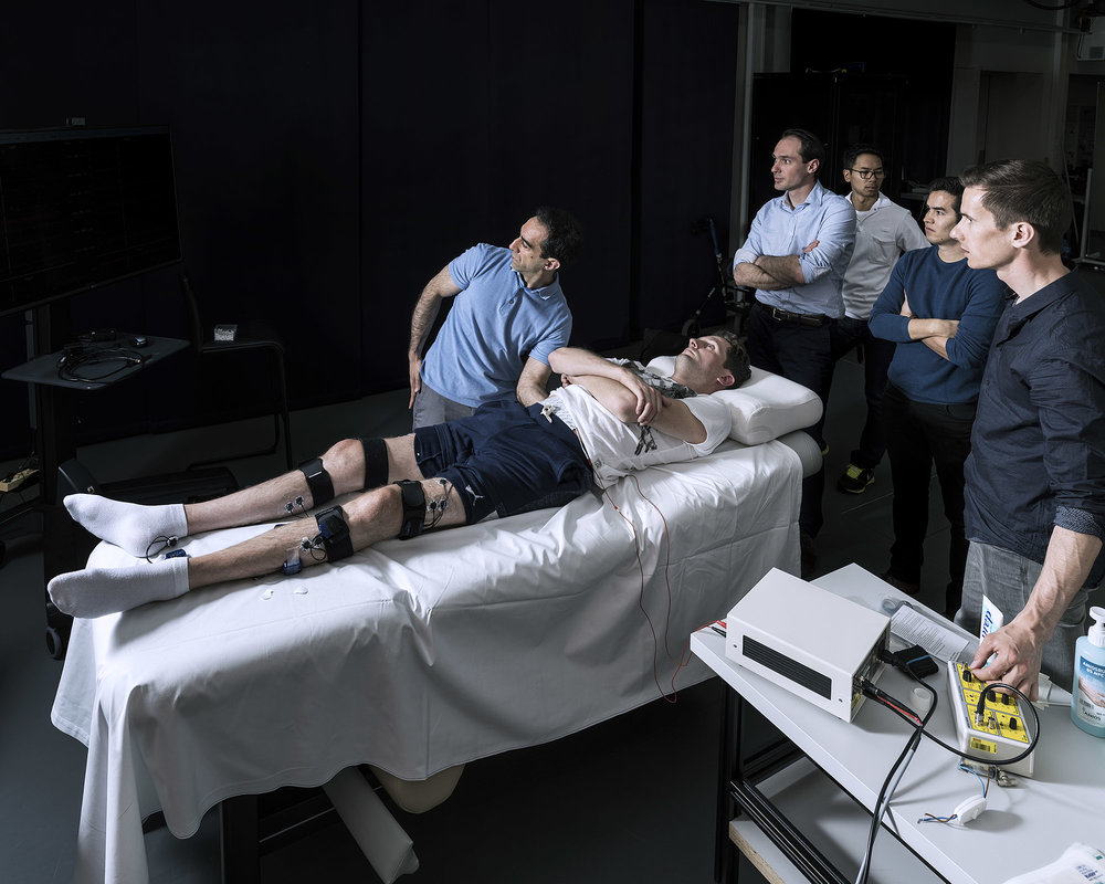 STIMO (Epidural Electrical Simulation with Robot-assisted Rehabilitation in Patients with Spinal Cord Injury) is a clinical study aiming to improve the motor skills of people with injured or diseased spinal cords, who have major difficulties controlling their lower limbs. It is the extension of the reWalk experiment. The study required the participation of neuroscientists, engineers, robot scientists, physicians, and physical therapists. The first human patients received this type of implant in 2017.
