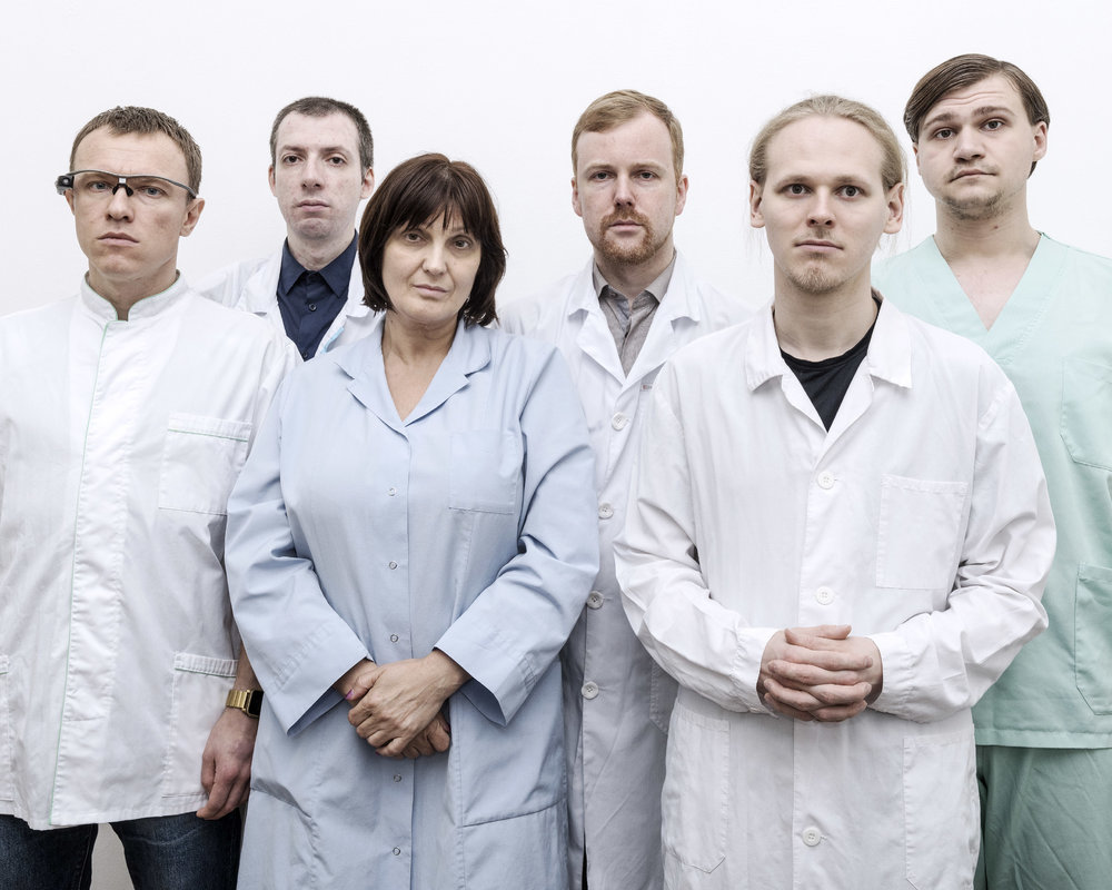 Igor Trapeznikov, Alexey Samykin, Valerija Pride, Danila Medvedev, Sergey Evfratov, and Ivan Stepin are members of Russia's transhumanist movement. In the absence of any restrictive legal framework, they founded Kriorus, one of the world's three cryonics companies. They believe in immortality.  Moscow, June 21, 2017