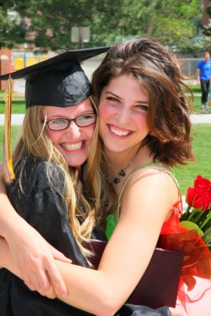 graduation portrait kelli and friend