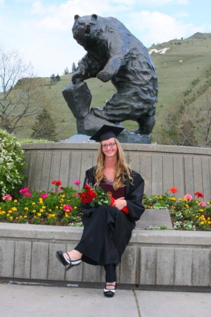 graduation portrait kelli by grizzly bear