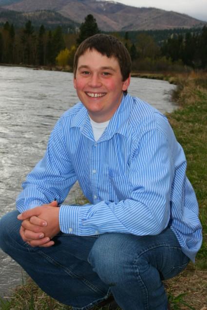 Senior portrait Luke by river