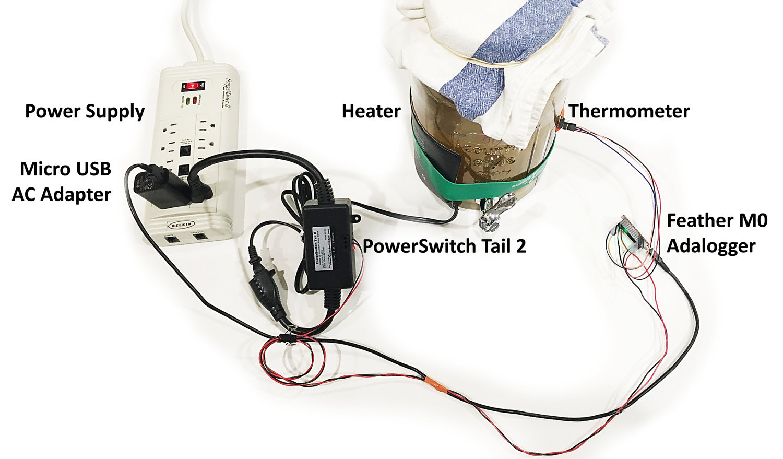 Kombucha Thermostat with CircuitPython + Feather — Rebecca