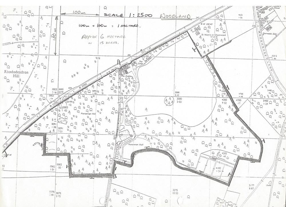Map of Nanpantan Grounds